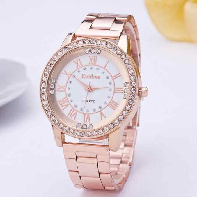 2018 accessoires de montre femmes hommes cristal strass en acier inoxydable amoureux montre analogique Quartz montre-bracelet