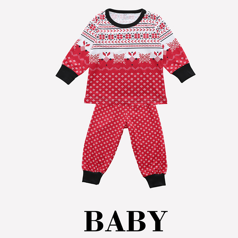 c9d471af03 2019 Family Matching Christmas Family Pajamas Set Snowflake Tree Printed  Adult Baby Kids Long Sleeve Nightwear Pyjamas Costume-in Matching Family  Outfits ...