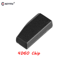 KEYYOU 1 PCS For Ford 4D60 ID60 For Ford Fiesta Connect Focus Mondeo Ka 40 Bits Blank Carbon Chip Car Carbon Transponder Chip