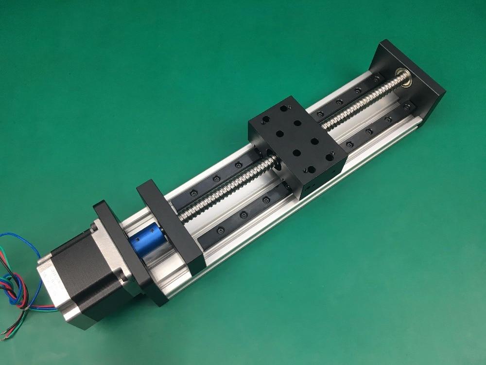 High Precision GX80*50mm Ballscrew linear 1610 600mm 1000mm Effective Travel+Nema 23 Stepper Motor Linear Motion single block