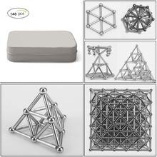 148 шт DIY магнитные строительные блоки Строительный набор головоломка игра в штабелирование скульптура настольные игрушки, обучение и обучение мозгу