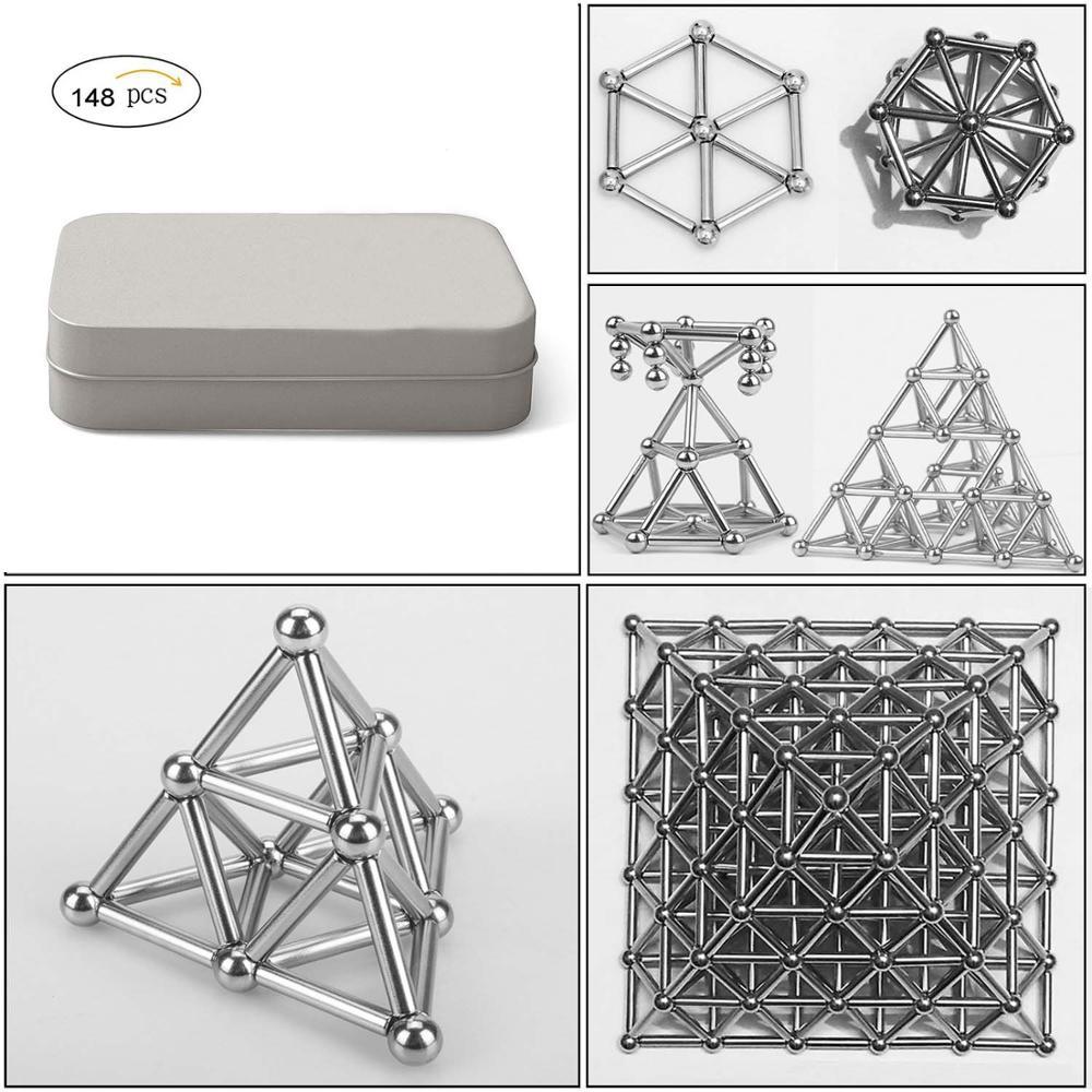 90bf160064 148 pcs DIY Manyetik Yapı Taşları İnşaat Set Bulmaca Istifleme Oyun Heykel  masa oyuncakları