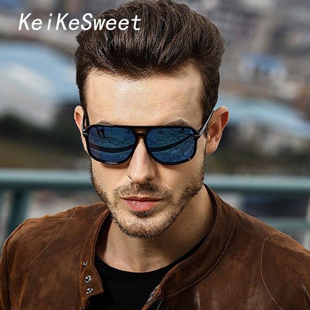 KeiKeSweet Топ Брендовая Дизайнерская обувь модные мужские HD поляризованные UV400 Прохладный Горячее предложение солнцезащитные очки спортивные Винтаж лучей UV400 Мужской солнцезащитные очки