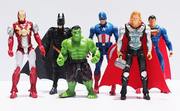 все цены на The Avengers figures super hero toy doll baby hulk Captain America superman batman thor Iron man Free Shipping онлайн