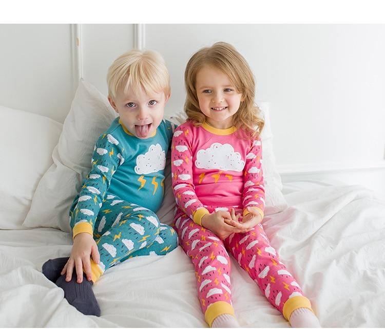 Kids Pijamas Sleepwear Boys Girls Pyjamas Kids Pajamas Sets Kids Clothes Nightwear Homewear Toddler Clothes Suits