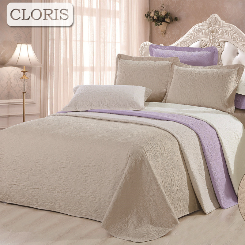 CLORIS Hot Bedding Quilted Bedspread Pillowcases High Quality Patchwork Blanket On The <font><b>Bed</b></font> Sheet Fashion Plaid King <font><b>Size</b></font> Cover