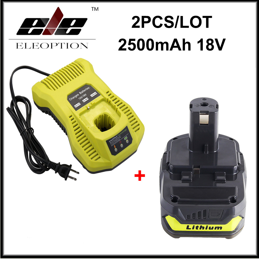 Batterie de remplacement Li-ion 18 V 2500 mAh pour Ryobi RB18L25 One Plus pour P103 P104 P105 P108 avec chargeur P117 12-18 VBatterie de remplacement Li-ion 18 V 2500 mAh pour Ryobi RB18L25 One Plus pour P103 P104 P105 P108 avec chargeur P117 12-18 V