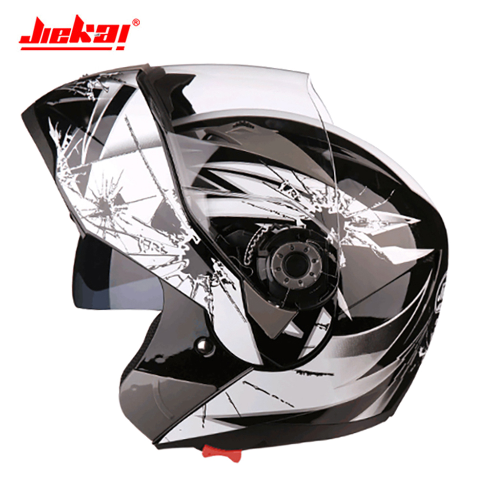 JIEKAI Motorcycle Helmet Men Casco Moto Helmet Full Face Capacete Motocross Off Road Double Lens Motorbiker