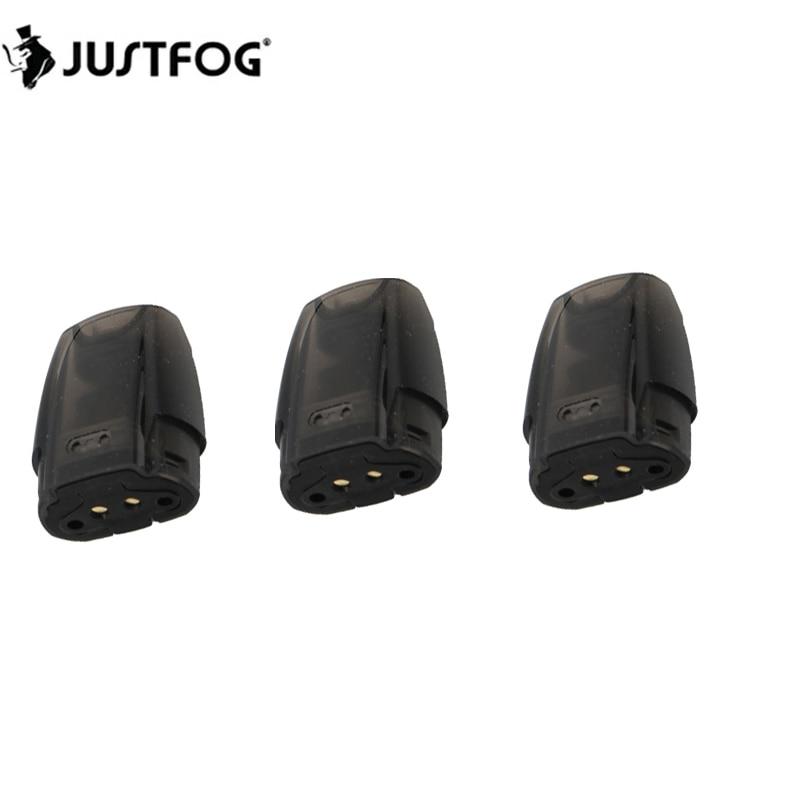3pcs/lot JUSTFOG Minifit Pod 1.5ml Tank With Organic Cotton Coil 1.6ohm Refillable Cartridge For E Cigarettes Minifit Kit Vape