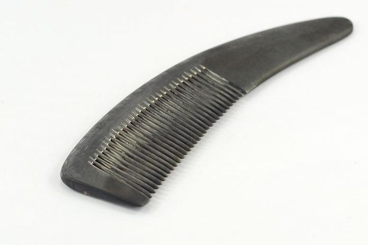 Купить с кэшбэком 1PC Sharp Buffalo Horn Comb Original Ecological Black Massage Hair Comb Source Of Origin G0411