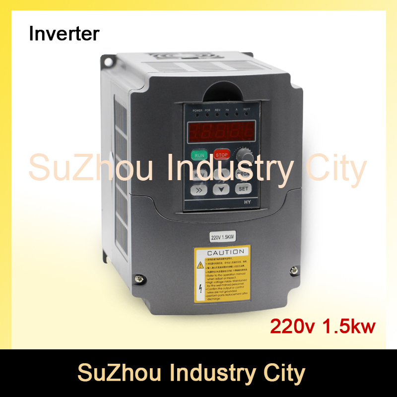 220V 1.5kw VFD Variable Frequency Driver cnc spindle motor driver speed control Inverter Input 1or 3HP 220V Output 3HP 220V ! 220v 5 5kw vfd variable frequency drive vfd inverter 3hp input 3hp output cnc spindle motor driver spindle motor speed control