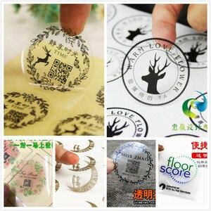 Image 1 - Étiquette autocollante transparente 30mm avec logo personnalisé (sauf impression de logo de couleur blanche)