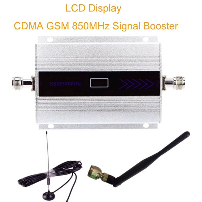 LCD Display 3G UMTS 850MHz <font><b>Repetidor</b></font> Mini Mobile Phone Signal Repeater Celular GSM <font><b>850</b></font> <font><b>MHz</b></font> <font><b>Repetidor</b></font> Amplifier + Antenna image