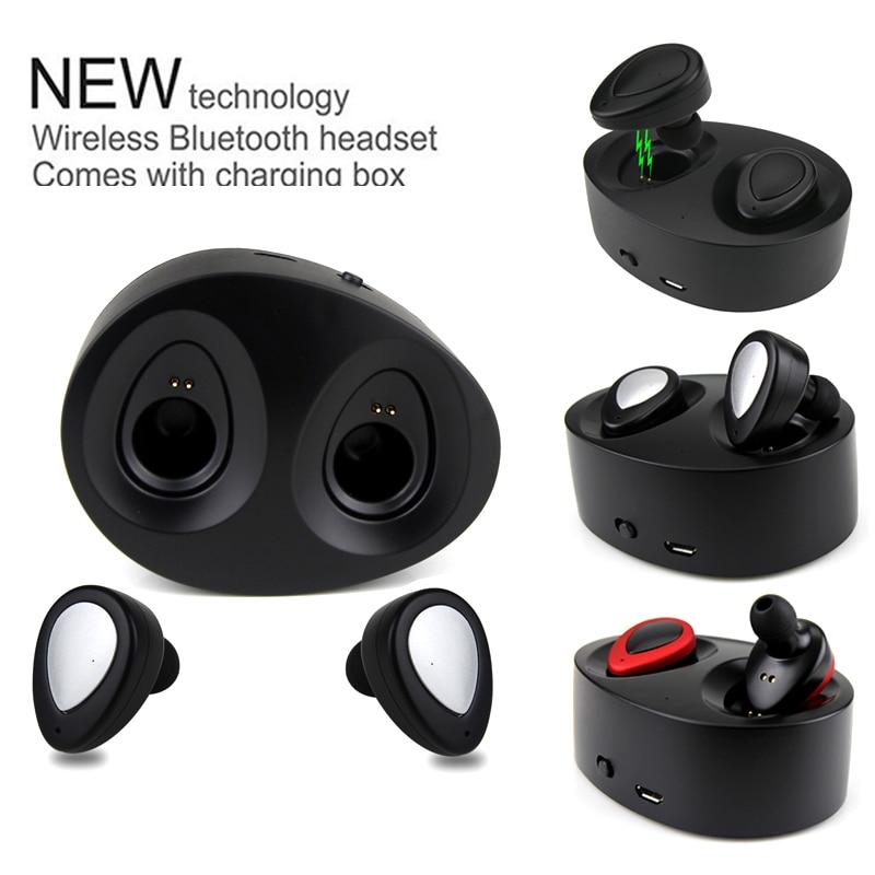 Daono TWS K2 Bluetooth Earbuds True Wireless Headset Mini Stereo Earphone CSR 4.2 with Charging Socket play music