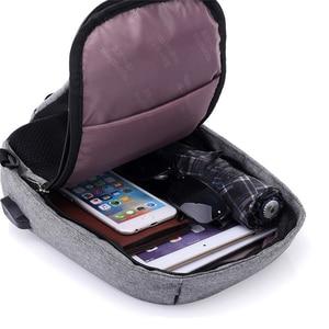 Image 4 - INHO CHANCY backpack school bag for teenagers design frame USB Charge Computer Backpacks Anti theft Waterproof for Men Women