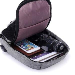 Image 4 - INHO تشانسي حقيبة ظهر مدرسية للمراهقين تصميم الإطار USB تهمة الكمبيوتر على الظهر مكافحة سرقة مقاوم للماء للرجال والنساء
