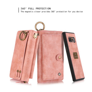 Image 3 - Multifunction Leather Zipper Wallet Card Bag Case For Samsung Galaxy S10e Note 8 9 10 Pro S7 Edge S8 S9 S10 Plus Removable Handbag For iPhone 11 Pro XS Max XR X 6 6S 7 8 Plus