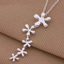 925-N128 Высокое качество чистого серебра ювелирные изделия цветок кулон серебро StatementNecklace женская аксессуары цена от производителя