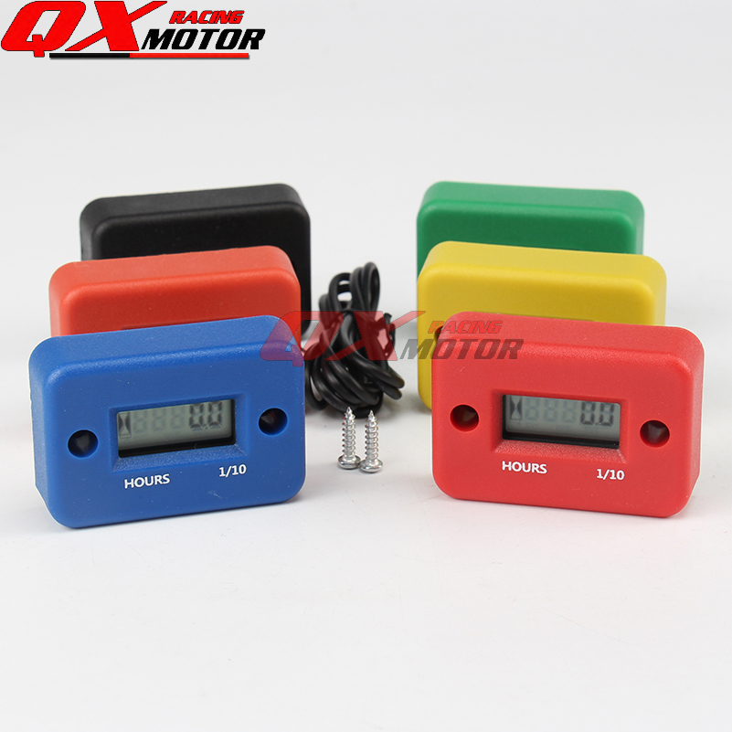 Waterproof Digital LCD Counter Hour Meter for Dirt Quad Bike ATV Motorcycle Snowmobile jet ski boat pit bike motorbike MX marine
