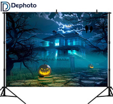 DePhoto Photo Backdrops Night Horror Halloween Pumpkin Light Backdrop Photocall Professional Customize Product Photography
