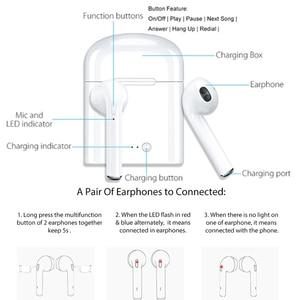 Image 3 - سماعات بلوتوث سماعة أذن صغيرة لاسلكية الرياضة سماعات الأذن حر اليدين مع صندوق شحن