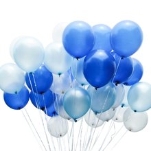 METABLE 100PCS 12/10 inch Royal Latex Balloons Party Balloons  for Boys Baby Shower, 1st Birthday
