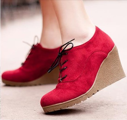 e16d3a6e54b2 Free shipping spring and autumn wedges boots women casual all match wedges  high heeled boots ankle boots martin boots 5 colors-in Ankle Boots from Shoes  on ...