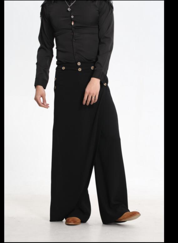 ГОРЯЧАЯ 2017 весенняя мода прилив Подиум брюки мужчины случайные штаны шаровары брюки ночной клуб одежда певица костюмы брюки