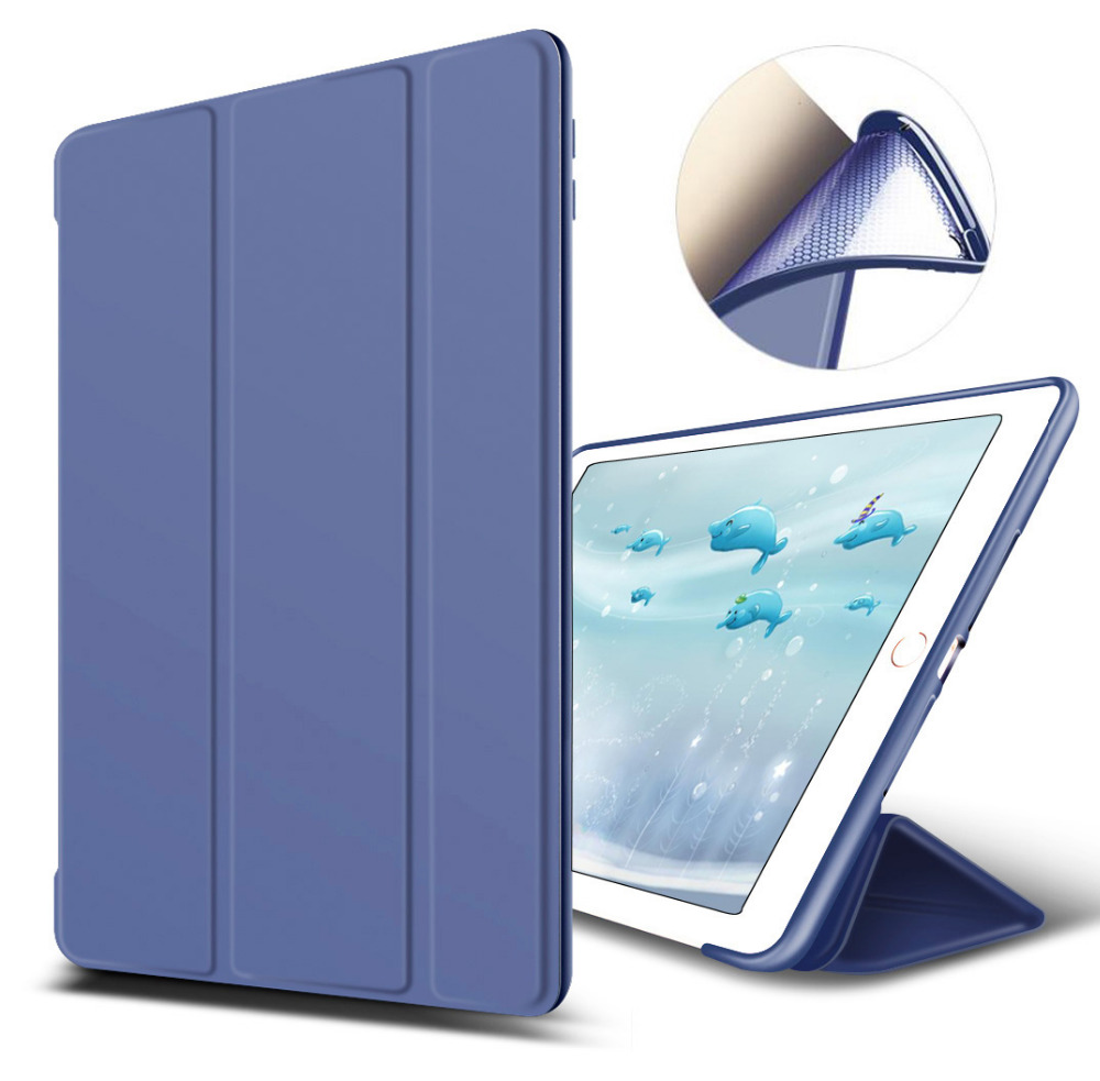 Luxury PU Leather Stand Flip Smart Cover case for Apple iPad Pro 10.5 inch with TPU Soft Back cover