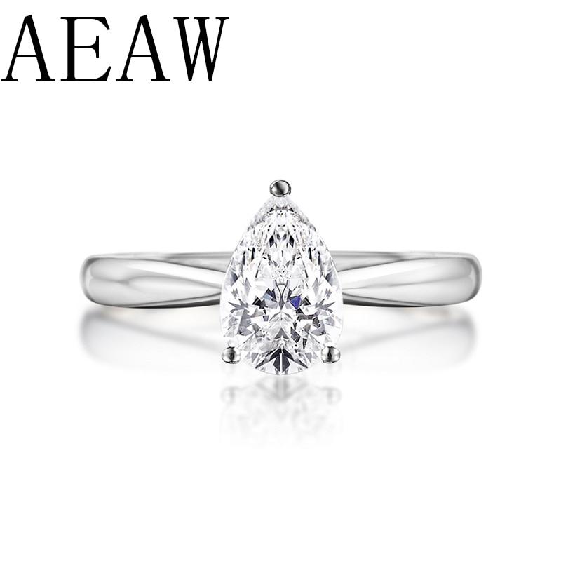 AEAW 0 5ct Pear Cut Forever Brilliant Moissanite Engagement Ring 925 Sliver Unique Moissanite Wedding Bridal