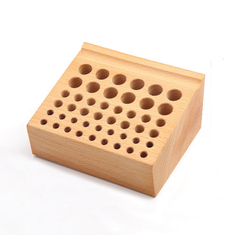 Diy Tools Solid Wood Storage Tool Rack Punch Printing Tool Storagetable Cut Round Blunt Leather Engraving Tools 76 Holes Tool Parts
