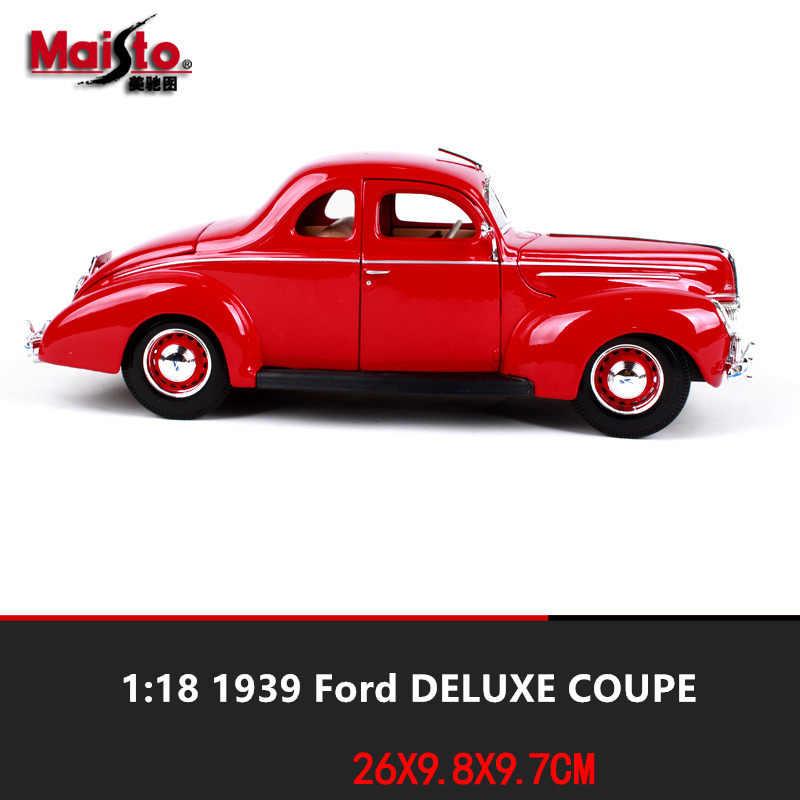 Maisto 1:18  1939 Ford Classic Alloy Retro Car Model Classic Car Model Car Decoration Collection gift