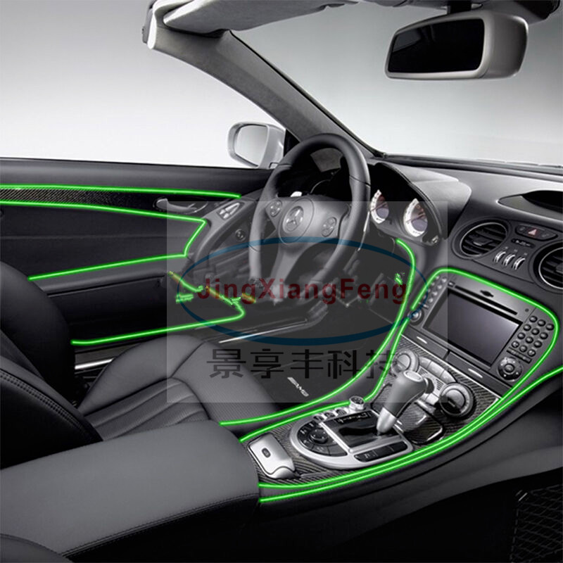 JingXiangFeng car accessories styling Interior LED EL Wire Rope Tube Line flexible neon light glow salon flat strip Pathway 5M