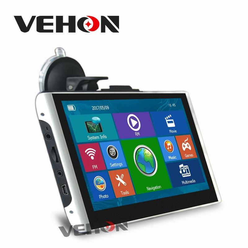 VEHON 7 inch Car Gps Navigation 8GB 256M FM Map Free Upgrade Navitel Europe Sat nav Truck gps navigators gps навигатор navitel n500 5 авто 4гб navitel серый