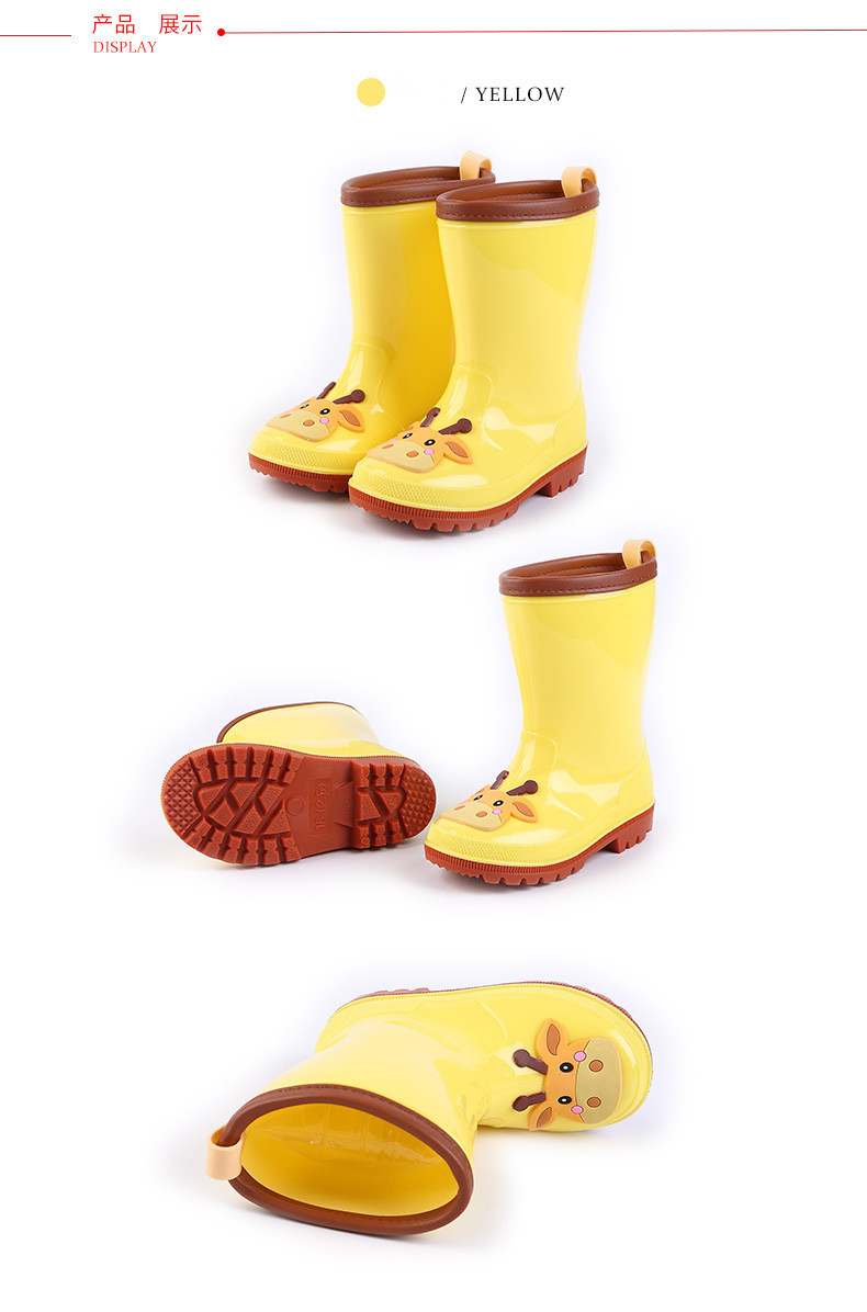 7.Rain Boots Kids for Boys Girls Rain Boots Waterproof Baby Non-slip Rubber Water Shoes Children four Seasons Rainboots