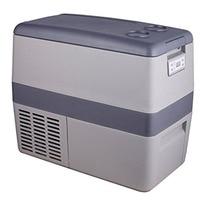 SMAD 12v RV Truck Portable Refrigerator Compressor Mini Car Freezer With 110v Converter Gray Fridge Cooling