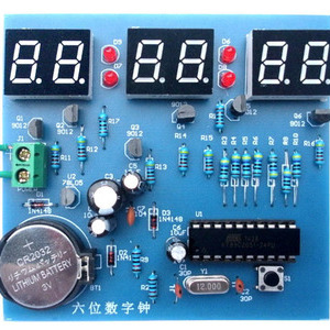 AT89C2051 Six digital clock ki