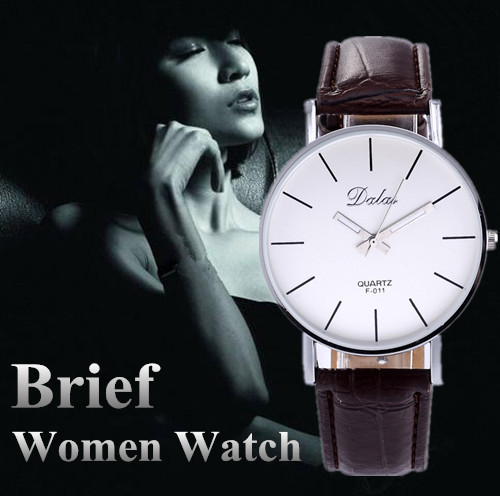 Women Wristwatch Fashion Casual Quartz Black White Brown Leather Watches Brief Hot Sale Lover's Round Dial Watch Elegant ! fashion leather watches for women analog watches elegant casual major wristwatch clock small dial mini hot sale wholesale