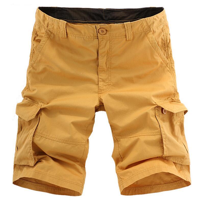 Big Size Cargo Shorts Men 2017 Summer Casual Cotton Short Pants Men Outside Trousers Many Color Optional Pantalones Hombre