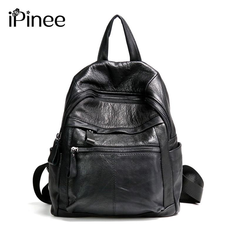 Sac à dos iPinee femmes sacs à dos en cuir de vache pour filles sacs d'école en cuir véritable sac à dos décontracté grand sac de voyage