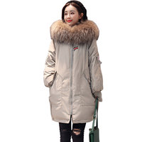 Big Fur Collar Winter Thicker Women Down Cotton Jackets 2018 New Warm Hooded Parkas Women S