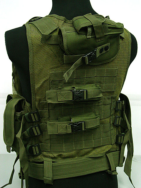 Deluxe Airsoft Tactical Combat Mesh Vest OD Digital ACU Camo BK Camo Woodland CB MC hot sale 10l waterproof outdoor travel sport basketball backpack fixed gear cycling bag