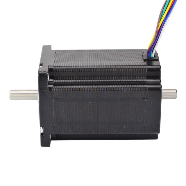 Nema 24 Stepper Motor 3.1Nm/439oz.in 3A 8-wire 8mm Dual Shaft CNC Mill Lathe Laser Router