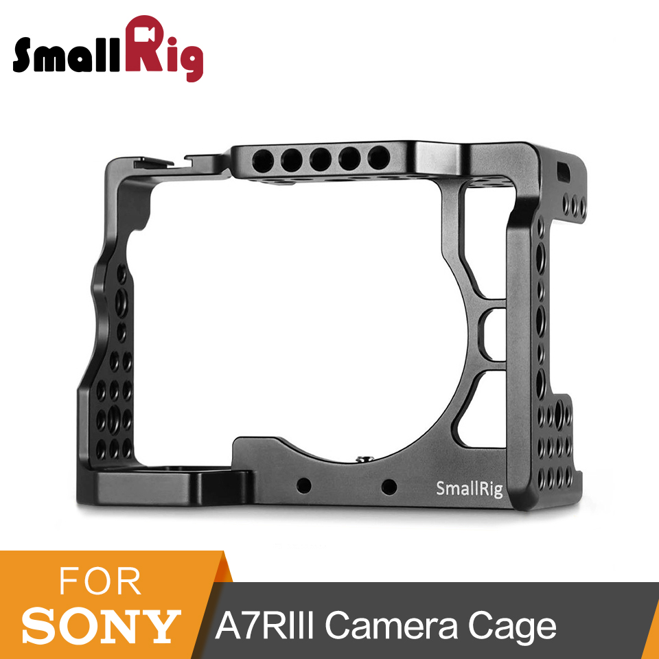 SmallRig Camera Cage For Sony A7RIII /A7 III Aluminum Alloy Cage To Mount Tripod Monitor Quick Release Extension Kit-2087 metal quick release roll cage
