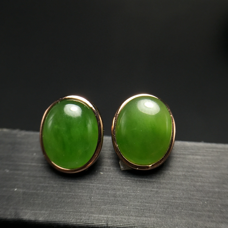 Uloveido Natural Green Jasper Stud Earrings for Women Girls 925 Sterling Silver Fine Jewelry Earrings for