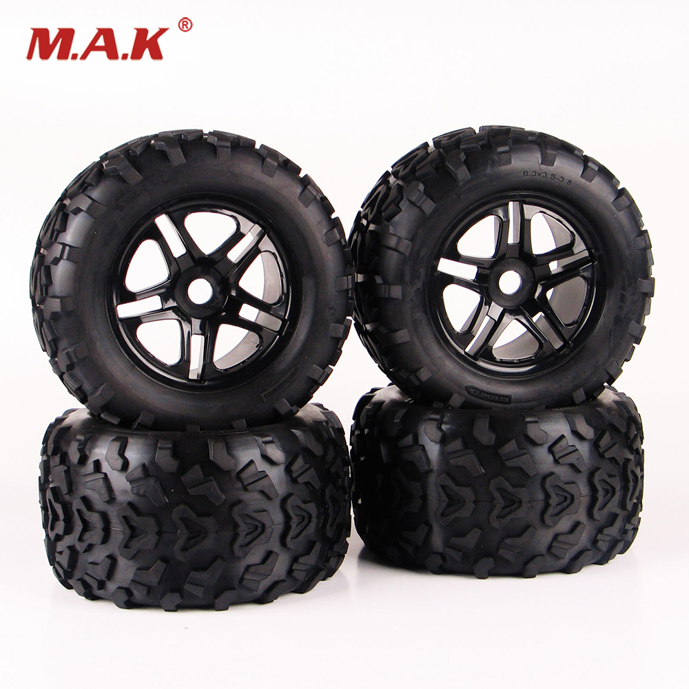 4PCS RC 1:8 Truck Bigfoot Tires Rubber Tyre Wheel For TRAXXAS Summit HPI 4pcs set 140mm rc 1 8 monster truck tires tyre plastic wheel rims