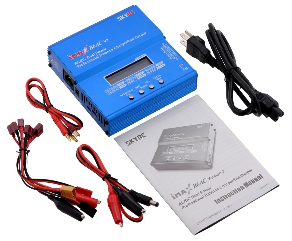 Image 5 - SKYRC iMAX B6AC V2 6A Lipo Battery Balance Charger LCD Display Discharger For RC Model Battery Charging Re peak Mode-in Chargers from Consumer Electronics