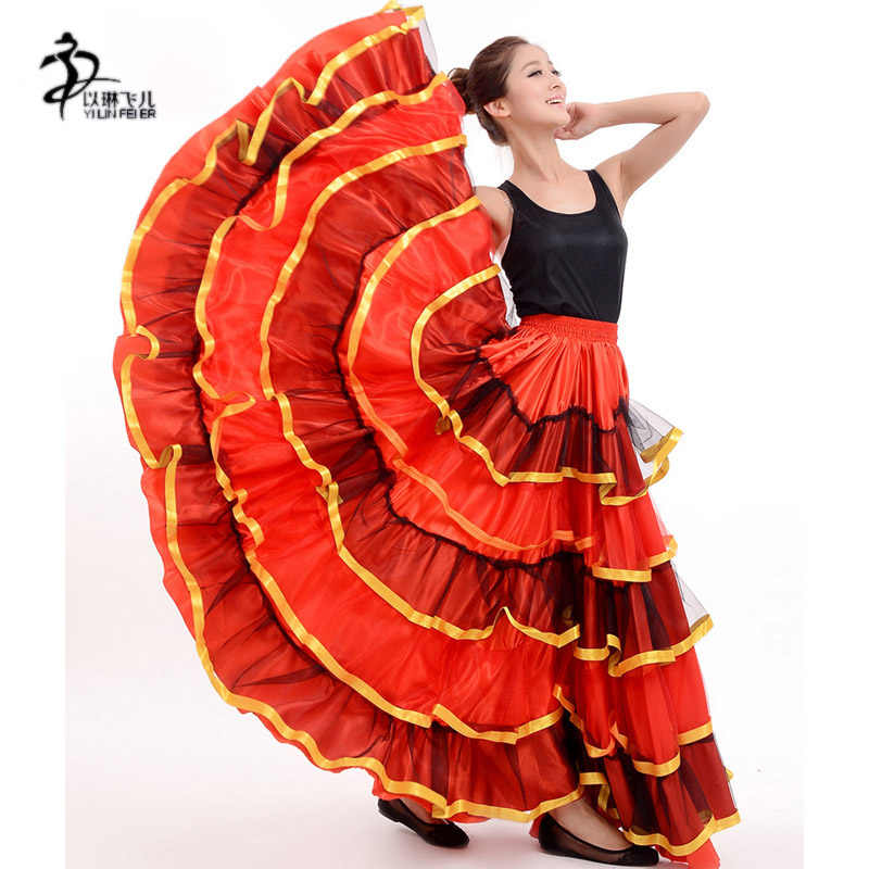 8d36d5654 ... flamenco skirt Ladies Spanish Flamenco Fancy Dress Dance Skirt Senorita  Rumba Salsa Costume/Flamenco dress ...