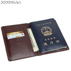 XZXBBAG Бизнес искусственная кожа Дорожная сумка для паспорта унисекс чехол защитный рукав мужчины женщины паспорта Обложки держатели для