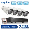 SANNCE 4CH 1080P 2 0MP Network NVR POE IP Camera Outdoor CCTV Home Surveillance Video CCTV